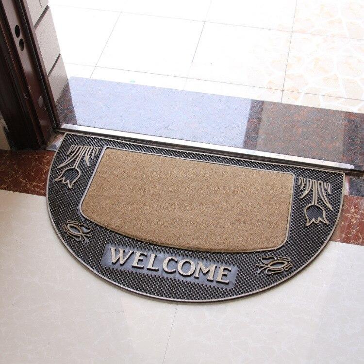 Tapis de porte mode tapis européen en caoutchouc antidérapant haute qualité tapis motif Rose pour salon chambre salle de bain décoration de la maison