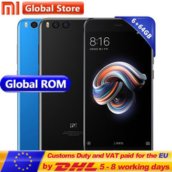 Original Xiaomi Mi Note 3 Note3 6GB RAM 64GB ROM Mobile Phone Snapdragon S660 Octa Core 12.0MP 16.0MP 5.5 Inch 1920*1080 3500MAh