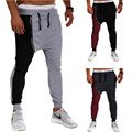 Mens Hip Hop Harem Pants Men Baggy Drop Crotch Trousers Zipper Track Pants Casual Mens Joggers Sweatpants