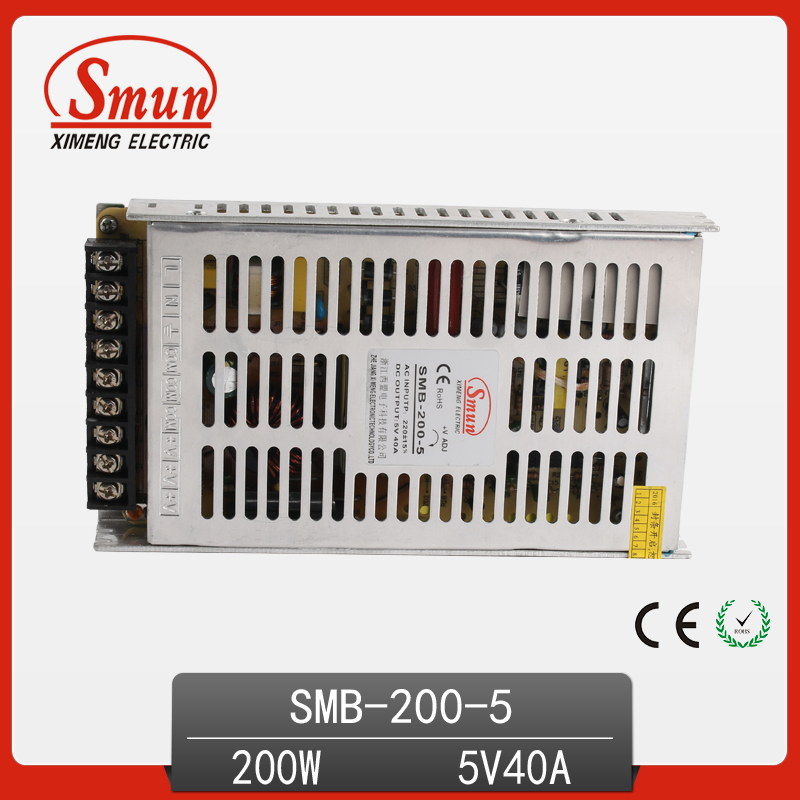 200W 5V 40A Slim Switching Mode Power Supply AC-DC Single Output Small Volume Power Supply free shipping 1pc nes 200 5 200w 5v 40a single output switching power supply