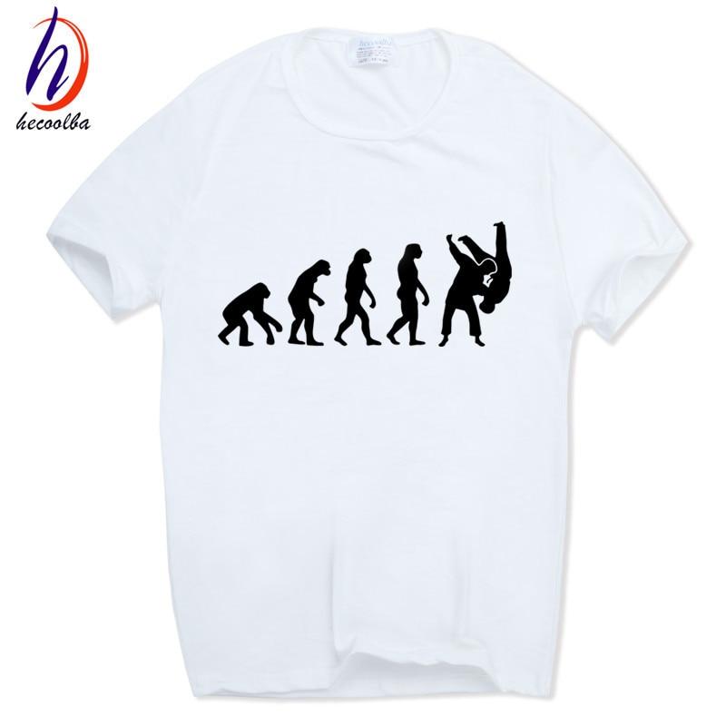 Mäns Evolution Of A Judo Mode T-shirt harajuku hip-hop Kortärmad - Herrkläder - Foto 4