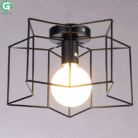 LED Ceiling Light Modern Holiday Lamp Iron Cover Painted Technology Star Shape Light Bedroom Restaurant Corridor