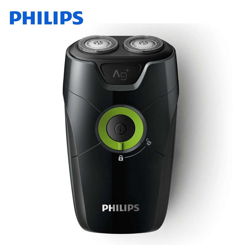 Philips Electric Shaver S205 With Non-Slip Handle With Two Floating Heads With Rotary Type Non-rechargeable For Men philips electric shaver s330 rotary rechargeable and body wash design for men s flexible veneer system with retail package
