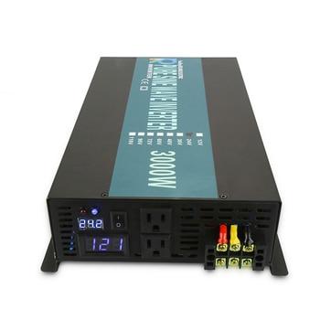 3000W Car Power Inverter 24V 220V Pure Sine Wave Inverter Solar System DC to AC Converter Transformers 12V/48V to 120V/230V/240V 1