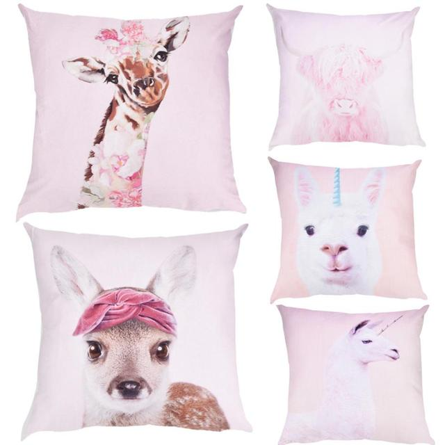 Alpaca Fodere per Cuscini Giraffa Copertura del Cuscino Caso Cuscino del Divano