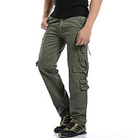Top 2017 New Autumn Mens fashion Military Cargo Pants Multi-pockets Baggy Men Pants Casual Trousers Overalls Army Pants Joggers