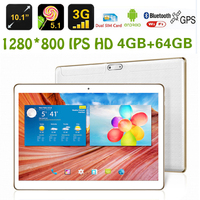 10 Inch 3G Call Tablet PC Android 5 1 IPS Screen 12MP Multi Touch 4G 64G