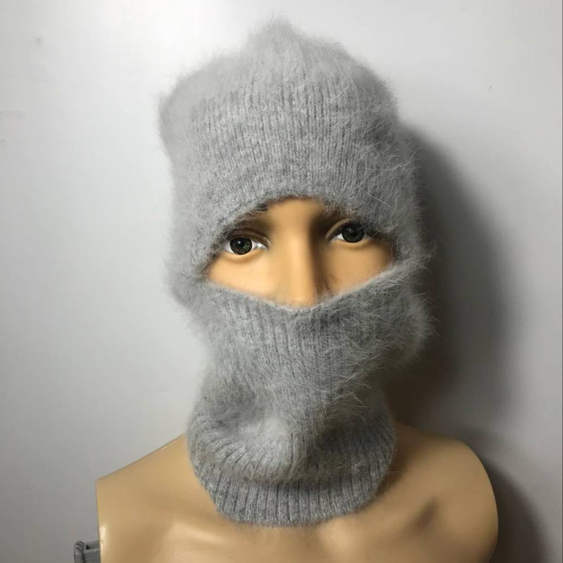 LOVELYDONKEY Men Women General-purpose  Mink Cashmere Hand Knitting Hats Winter Warm Hat   Balaclava Winter Free Shipping  M1150