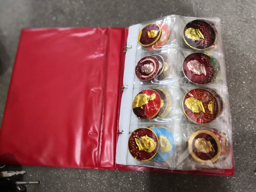 80/A set of commemorative medals of Chairman Mao in the old cultural revolution in China