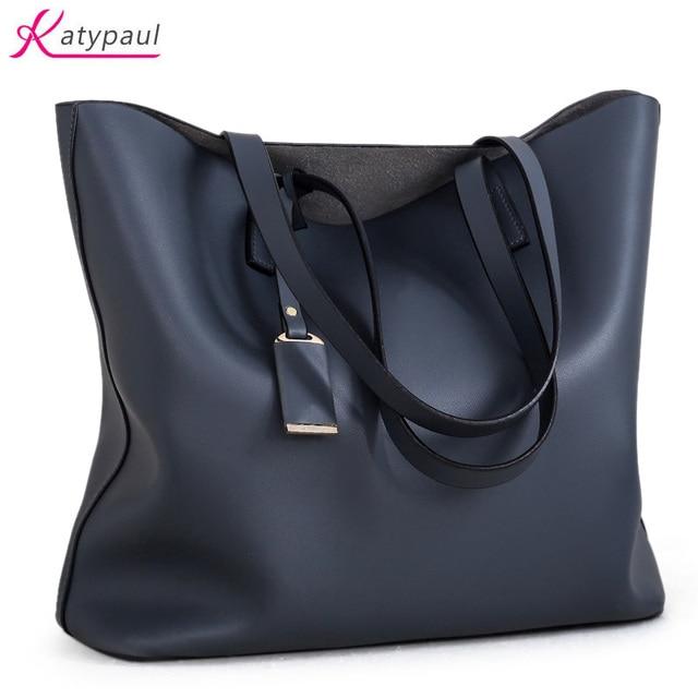 Large Capacity Tote Bag Luxury Handbags Women Bags Designer High Quality Leather Black
