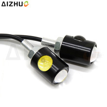 Universal Motorcycle Turn Signal Light 12V Silver Light LED Decorative Lamp For YAMAHA FZ1 FZ6 Fazer FZ8 FZ16 YBR 125 YBR125 R15 yamaha 125 ybr125