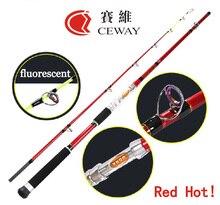Carbon Fishing Rods Red Boat Rod Power Fish Ocean Rod Fishing Jig Jigging Poles Deep Sea Pole 1.8m 2.1m 2.4m 2.7m FREE SHIPPING