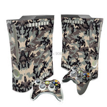 Camouflage Style For Microsoft Xbox 360 Fat Console Game Sticker Cover Vinyl Decals and Controllers Skins for Xbox 360 Sticker