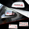 2 X Reflective Car Rearview Mirror Sticker and Decal for Kia Rio Ceed Sportage Cerato Sorento Picanto K3 K5