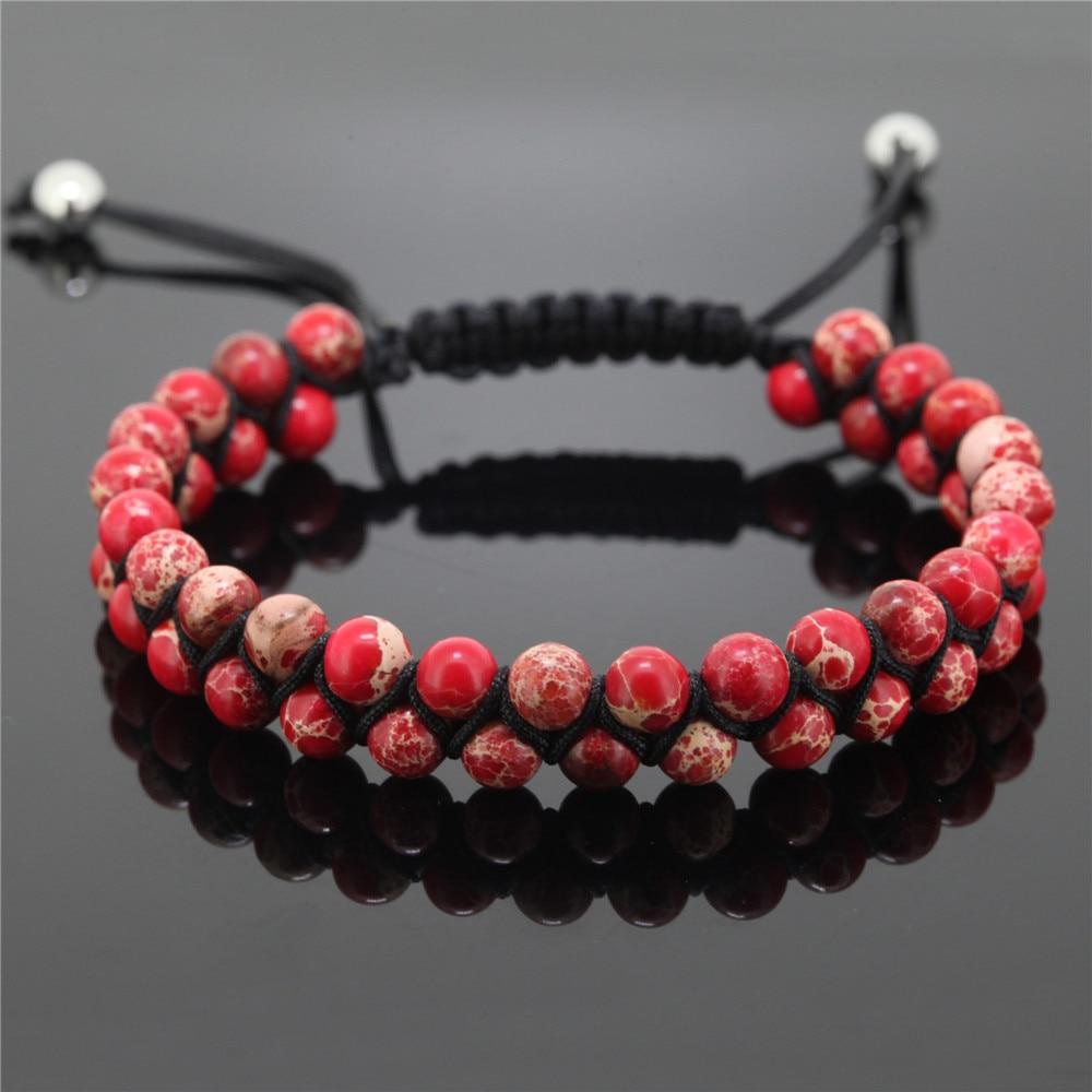 Ailatu Luxus Männer Armband 6mm Natürliche Hämatit Schlange Stein Perlen Top Qualität Party Geschenk