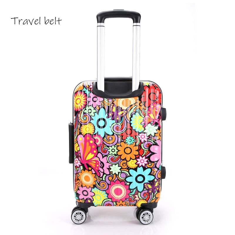 90fun Pc Koffer Kleurrijke Carry Op Spinner Wielen Rolling Bagage Tsa Lock Business Travel Vakantie Voor Vrouwen Mannen - 3