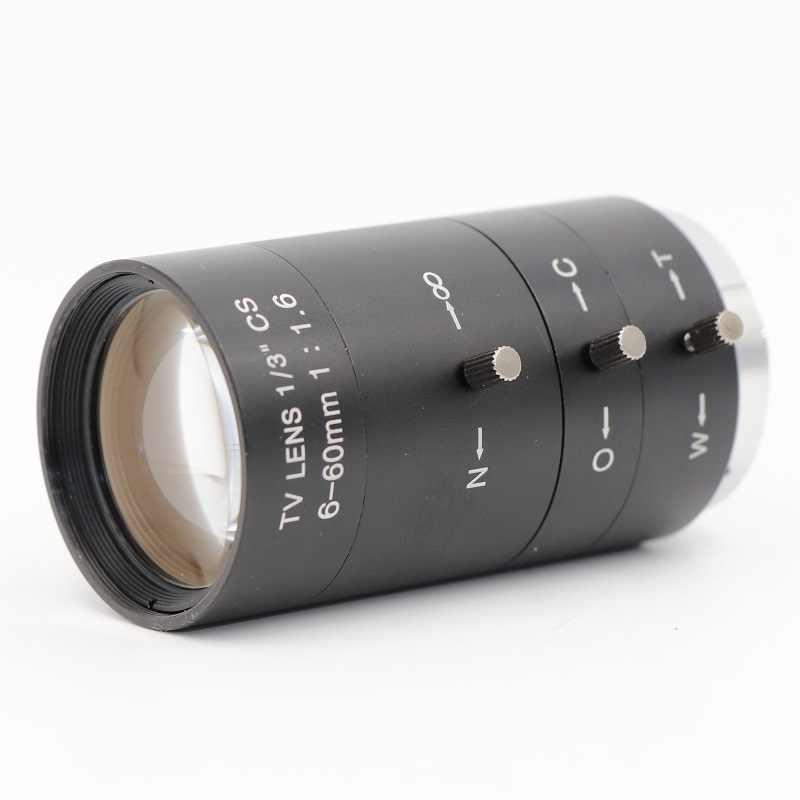 CCTV Máy Ảnh 6-60mm Ống Kính 2.0 MegaPixel Manual Zoom/Tập Trung/IRIS CS Núi Ban Đêm Hồng Ngoại Tầm Nhìn ống kính Cho Máy Ảnh CCTV