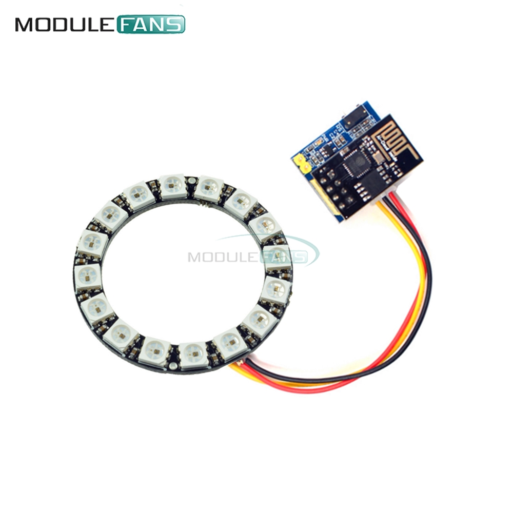 Integrated Circuits Rgb 12 Bit Ws2812 5050 Led Ring With Integrated Driver Module For Arduino Ws2812 Active Components Electronic Components & Supplies