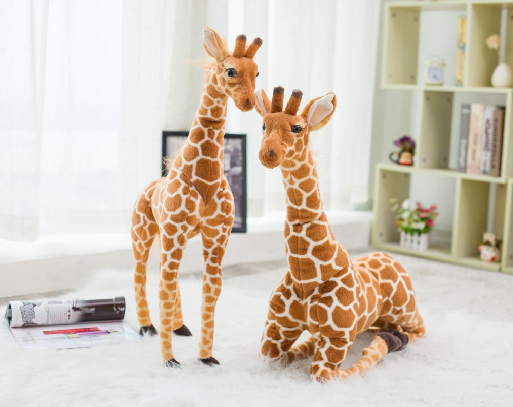 Huge Real Life Giraffe Plush Toys Cute Stuffed Animal Dolls Soft