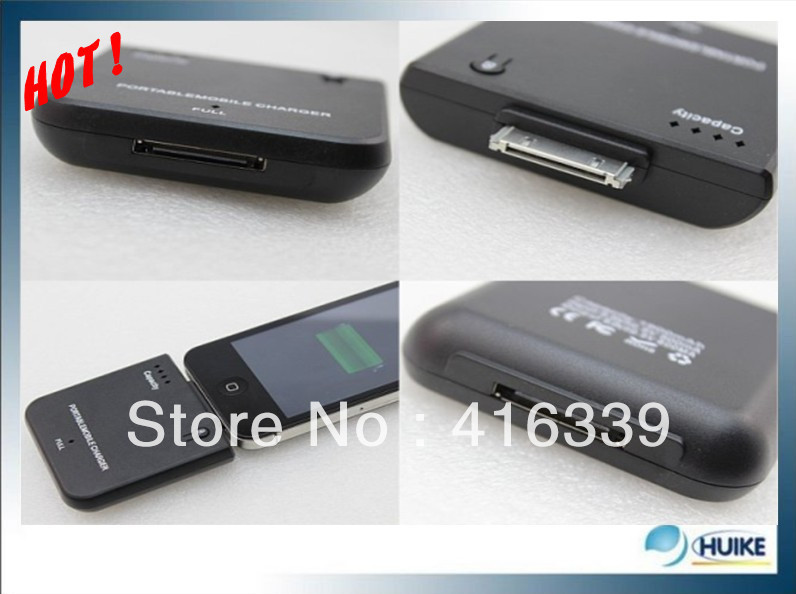1900mAh mobile charger for iPhone 4G 4S 3GS 3G portable external backup battery charge for iPod, DHL Free Shipping