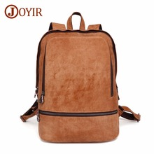 JOYIR Backpack Genuine Leather Men Laptop Travel 15.6Laptop Male Backpacks Fashion School Bag Bookbag