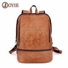 JOYIR Backpack Genuine Leather Men Laptop Travel Backpack 15.6Laptop Backpack Travel Male Backpacks Fashion School Bag Bookbag