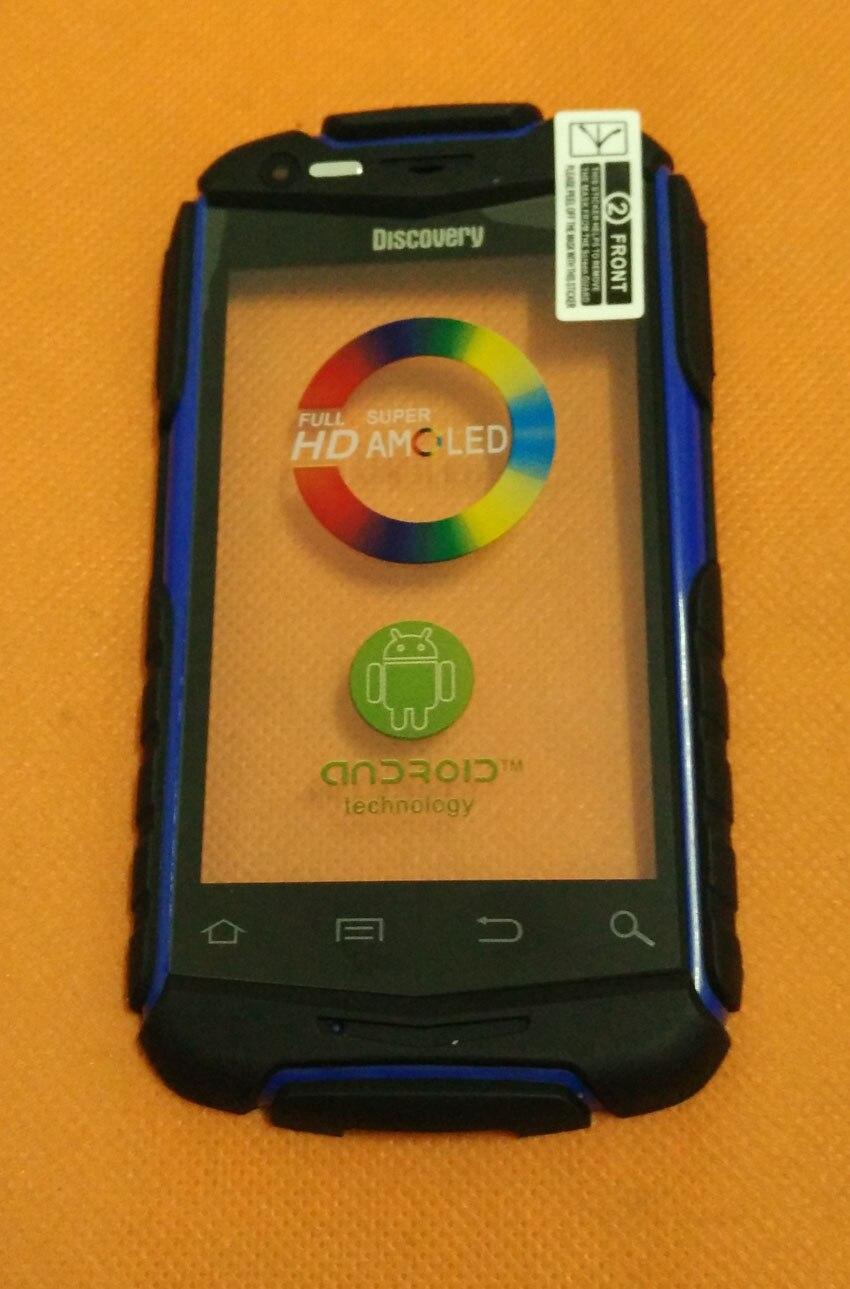 bilder für Verwendet Original Touchscreen Digitizer glasscheibe + frontrahmen Für Entdeckung V5 MTK6572W Dual Core 3,5 Zoll freies verschiffen