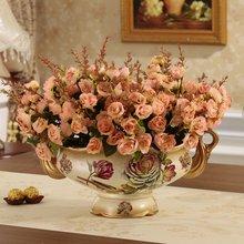 Европейская керамическая ваза украшение для дома ретро телевизор стол декорирующие аксессуары ручной работы цветок