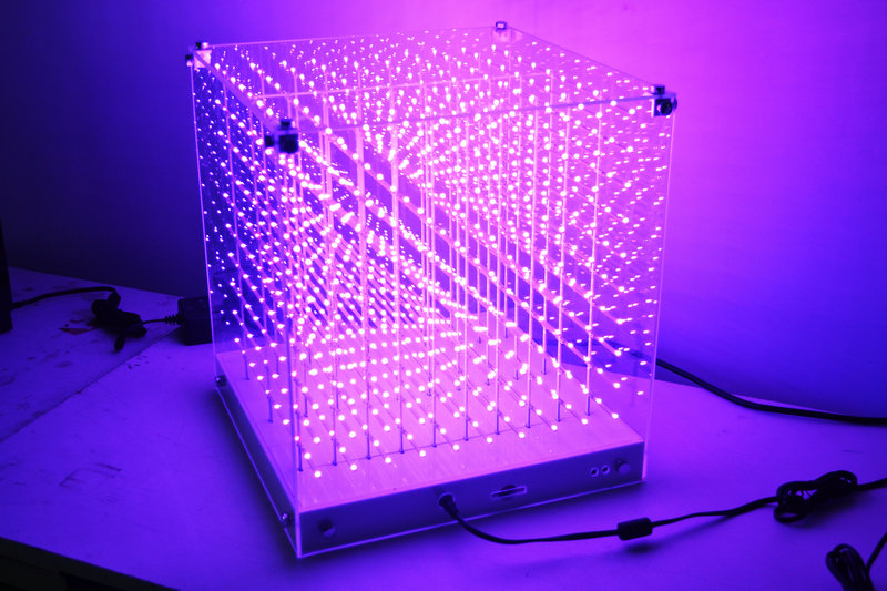New Smd 0805 3in1 3d Led Cube Light,3d Cube Light For Advertising,dj Party Show,led Display,sd Cube Lgiht Commercial Lighting