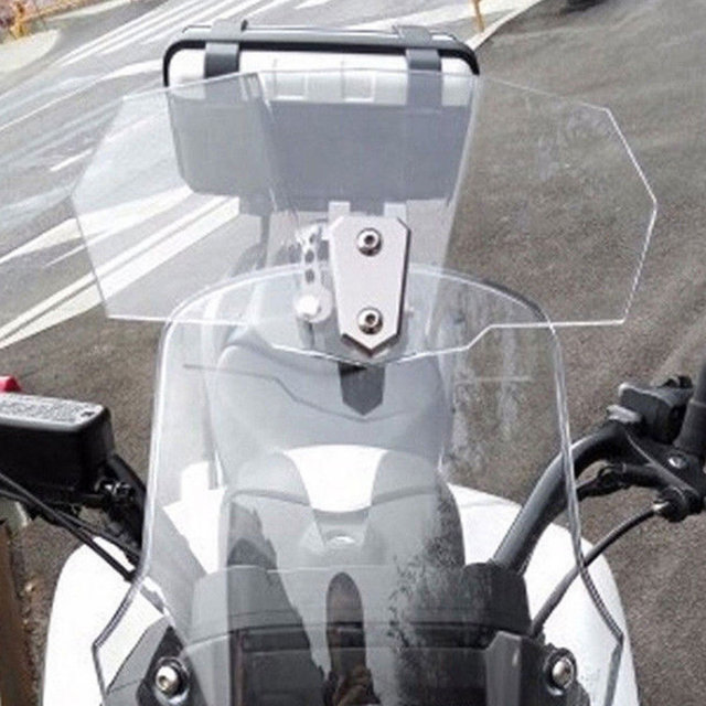 Universal Motorcycle Adjustable Clip-On Windshield Extension Spoiler Windscreen Accessories DXY88
