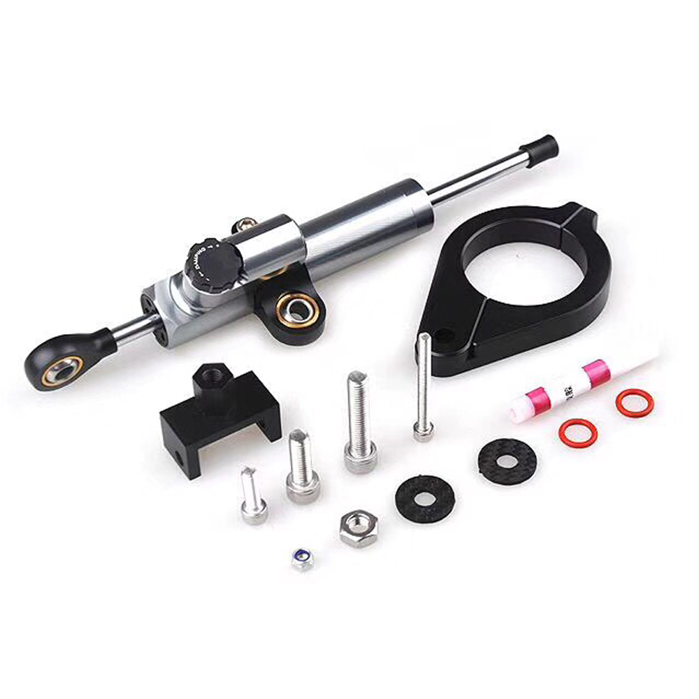 For BMW F800GS/F700GS/ADV F800 GS F700 GS CNC Aluminum Adjustable Motorcycles Steering Stabilize Damper Bracket Mount Kit