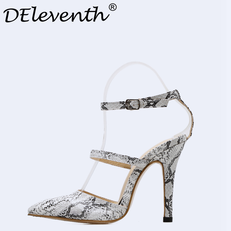 DEleventh Elegant Girl Pumps Pointed Toe Excessive Heels Girls 2018 Snakeskin Girls Stiletto Heels Celebration Costume Sneakers Sandalias Muje Excessive Heels, Low cost Excessive Heels, DEleventh Elegant Girl Pumps...