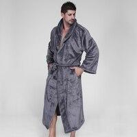 Plus la taille XXXL 160 KG robes à capuchon peignoirs hommes D'hiver à manches longues exquis en peluche robe de chambre hommes couples robes unisexe