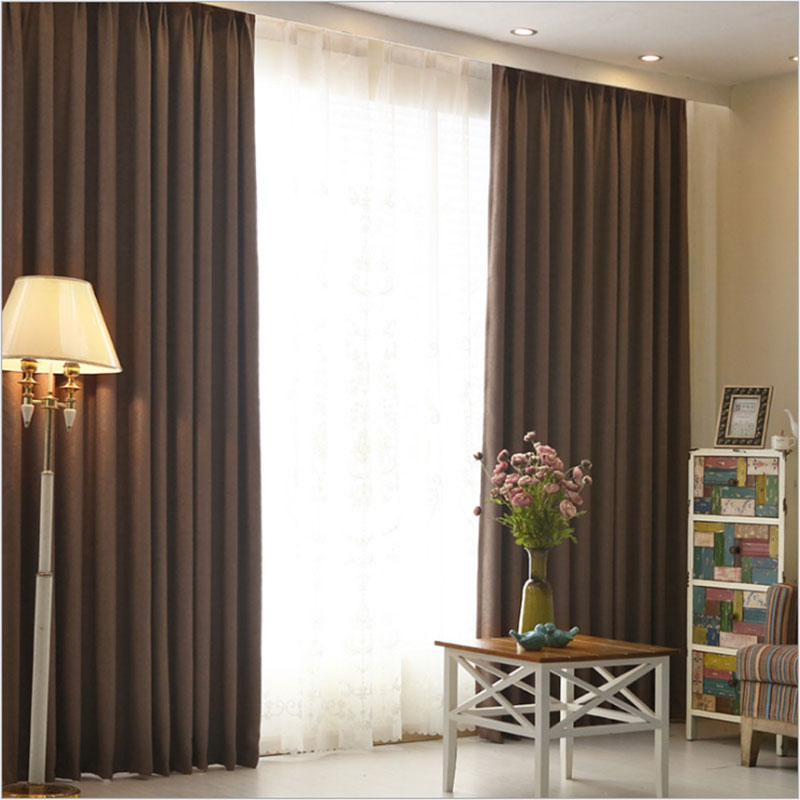 Aliexpress Buy Hotel Curtains Blackout Living Room Solid Color Home Window Treatments Modern Bedroom Drapes For Sale Single Panel From