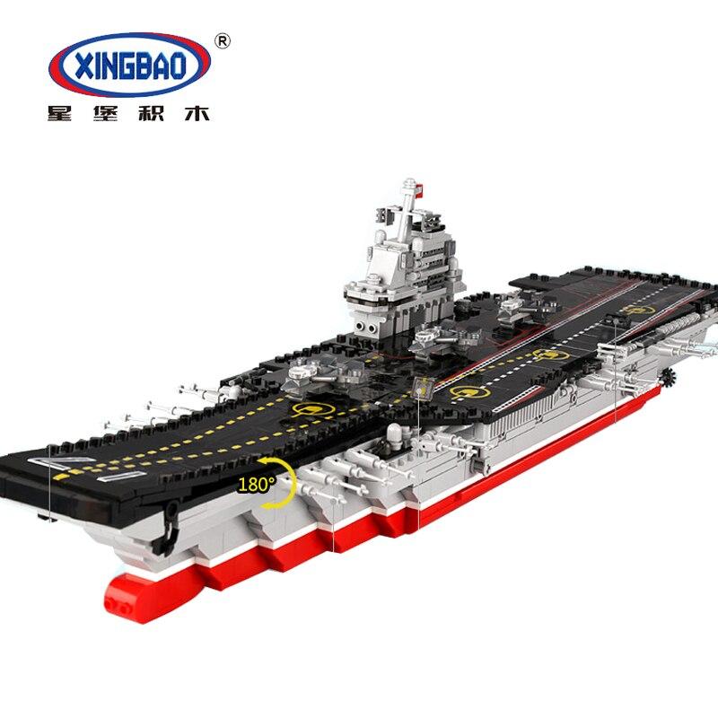XINGBAO 06020 كروزر العسكرية الطائرة معركة السفينة مجموعة سفينة حربية نموذج مجموعة بناء كتل الطوب DIY لعبة تكنيك مصمم-في حواجز من الألعاب والهوايات على  مجموعة 1