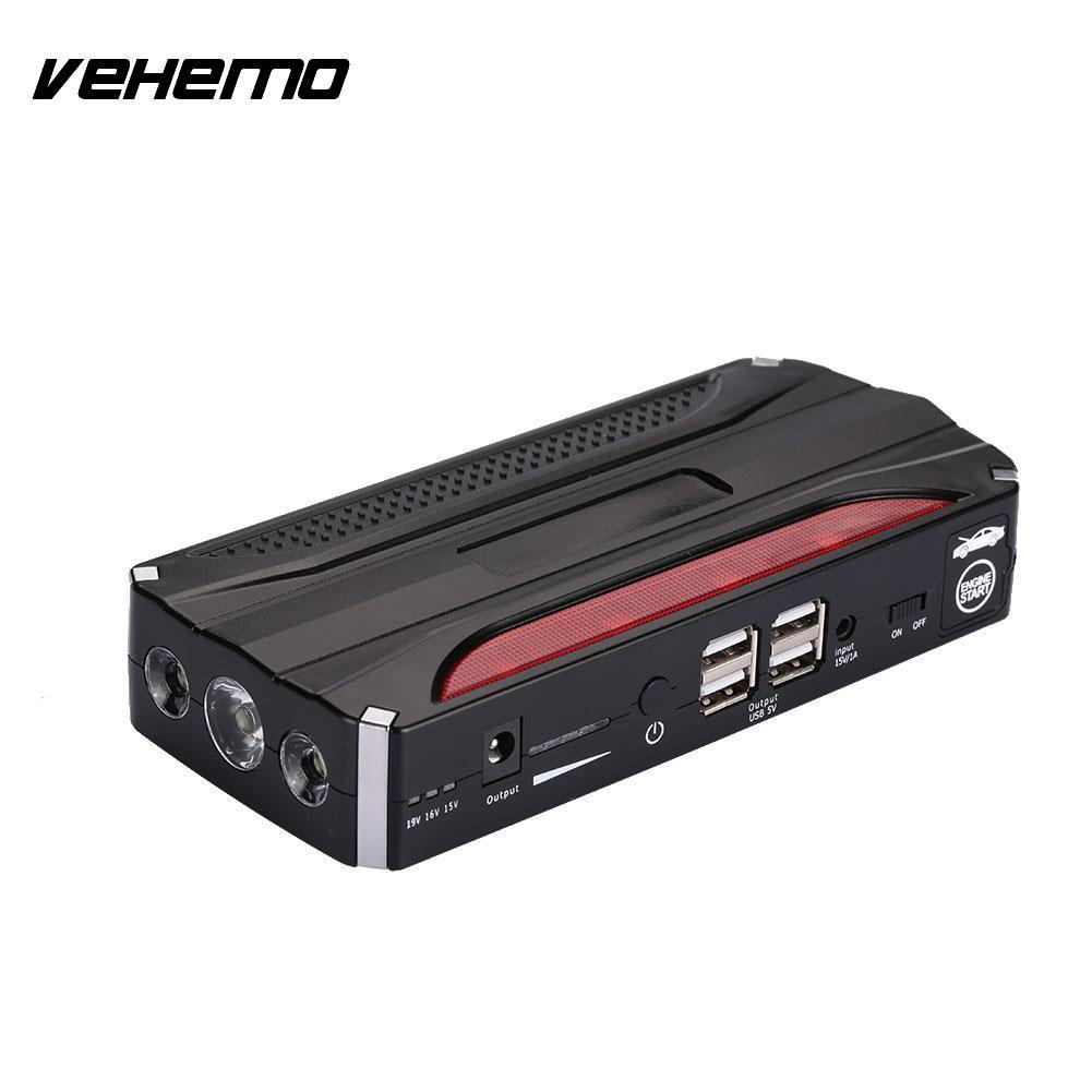 Vehemo 4USB Car Jump Starter Kit font b Battery b font Charger Jump Starter Kit DIY