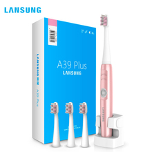 LANSUNG Wireless Charge Ultrasonic Sonic Presented 4 Toothbrush heads Brush Sets Professional Teeth Brush Electric Toothbrush