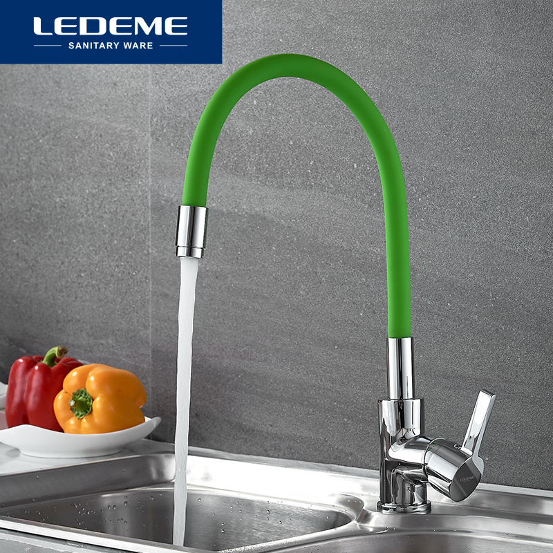 LEDEME Brass Kitchen Faucet Pull Out Single Hole Brass 360 Degree Single Handle Vessel Sink Vintage Kitchen Mixer Tap L4898-5 for mercedes w205 carbon spoiler amg style coupe c class w205 c200 c300 c180 carbon fiber rear spoiler rear trunk wing 2014 up
