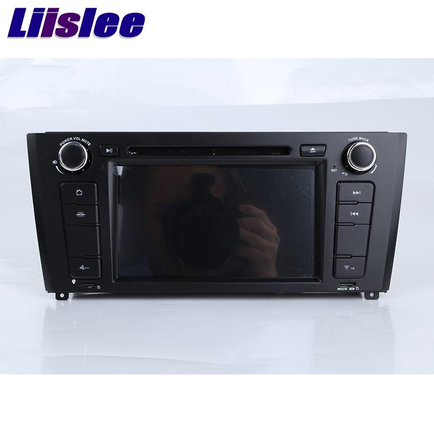 Liislee pour BMW série 1 E81/E82/I20 Navigation de voiture GPS stéréo lecteur Audio vidéo Radio Navi avec BT WIFI DVR AM/FM