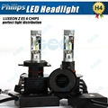 2 X Plug&Play car styling H4 9003 HB2  LED headlight 90W 12000LM 6000K Xenon white light bulbs Super bright LED HEADLIGHT