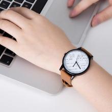 Top De Luxe Célèbre Marque Unisexe Montre-Bracelet Creative Mathématiques Style Bijoux Montre Pour Femmes Quartz Analogique Horloge Simple Dames Montres