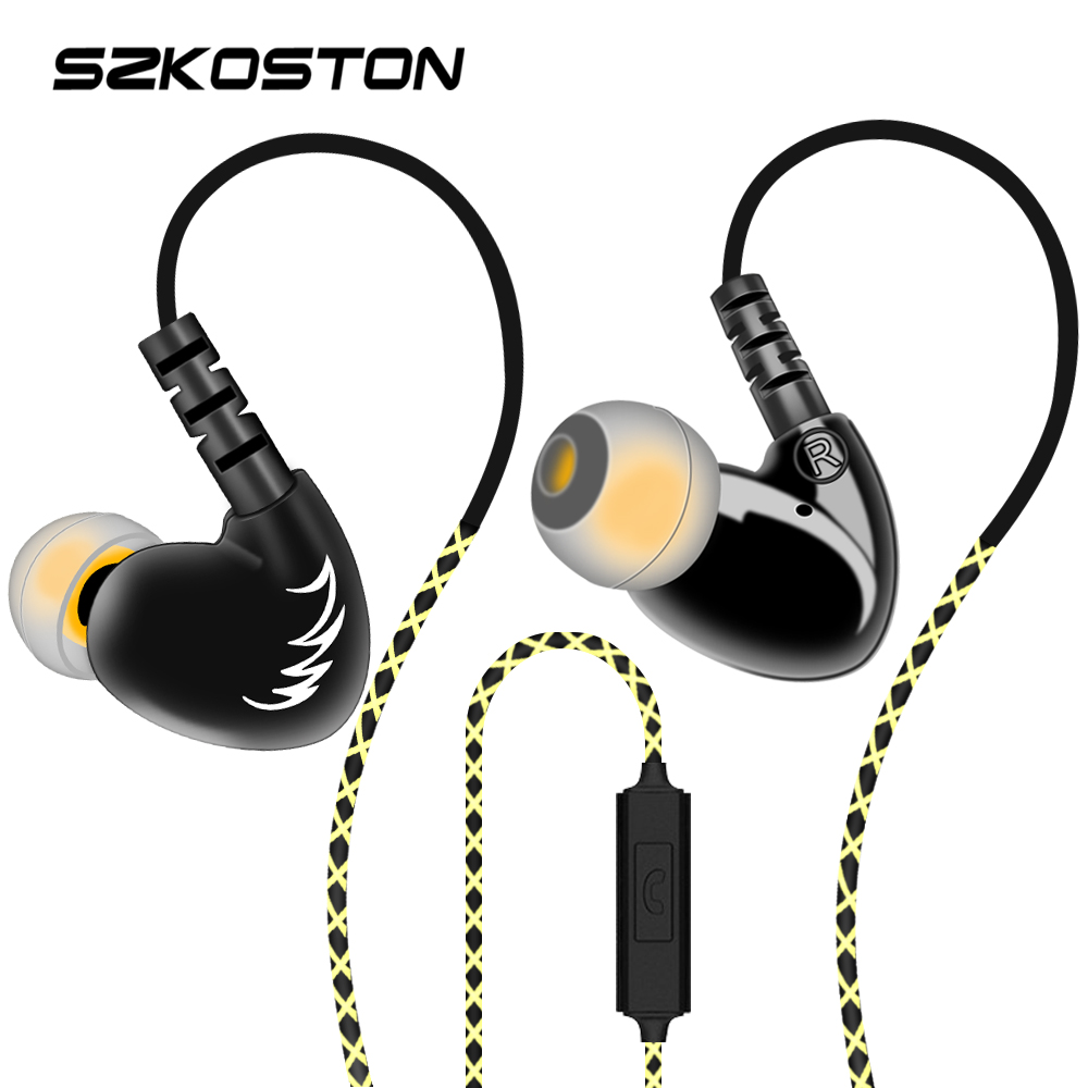 SZKOSTON Professional Stereo Earphone Ear Hook Waterproof Sports earphones Heavy Bass Sound Quality heads For Mobile Phones image