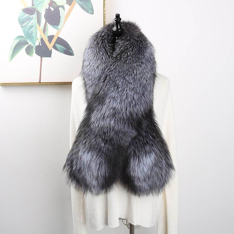 fox skin scarf big fox fur scarf (4)