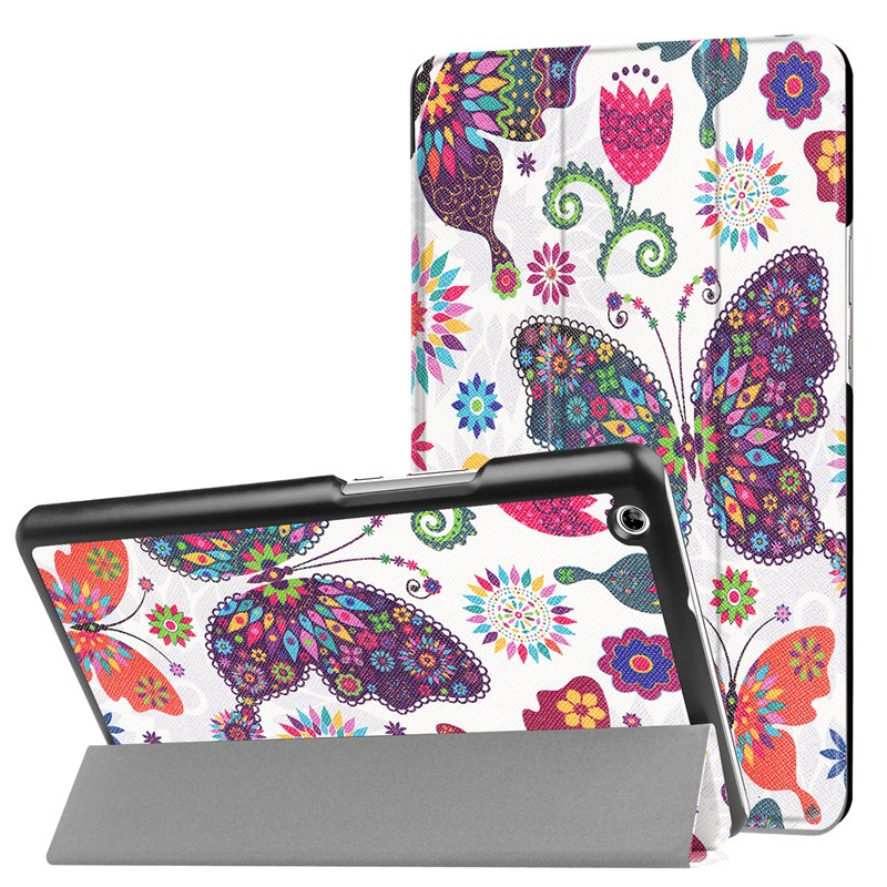 GUKEEDIANZI Colorful Painted Tri-folding Tablet Case Cover For Huawei Mediapad M3 Lite 8.0 CPN-W09 CPN-AL00 Protective Cover