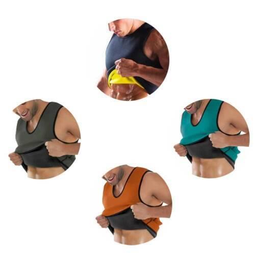 Men Waist Gym Neoprene Vest Sauna Ultra Thin Sweat Shirt Body Shaper Slimming Corset 4