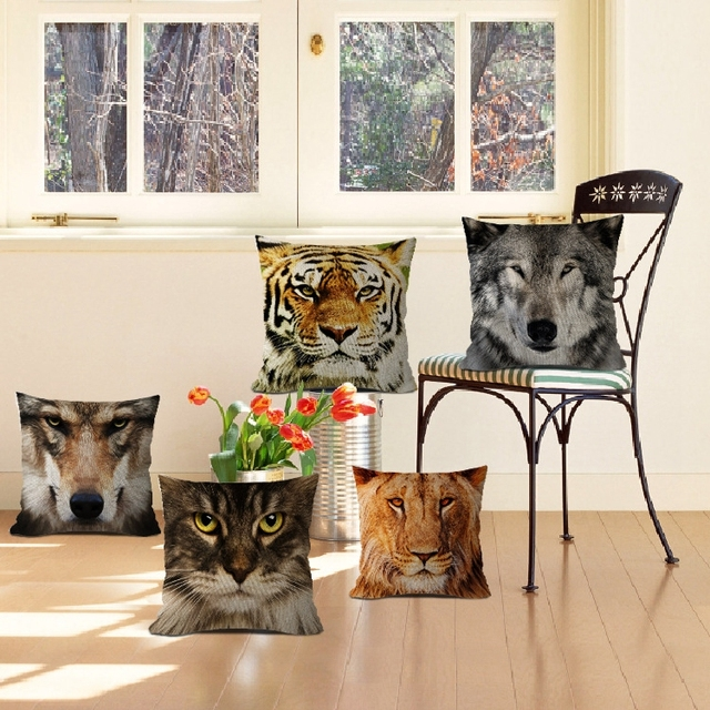 Ragazze cuscini animali cartoon Tiger dog pusscat sedia divano ...