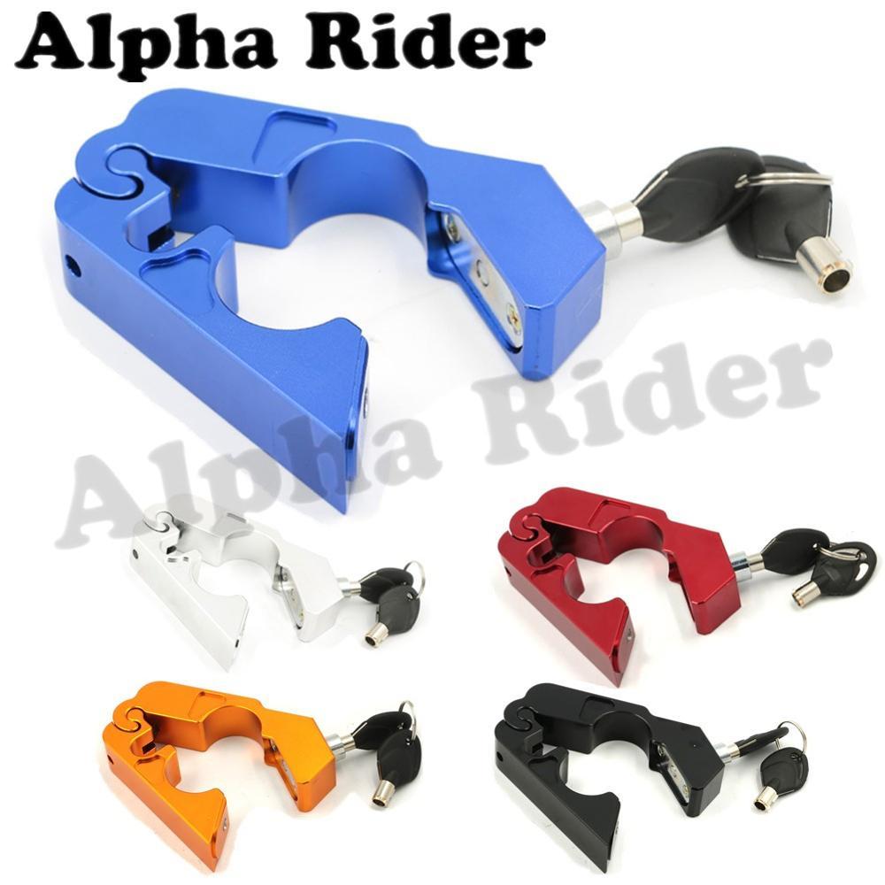 Aluminum CNC Motorcycle Handle Throttle Grip Security Lock Motorcross Motorbike Handlebar Lever Locks Set Brake Protect Dirtbike  цены