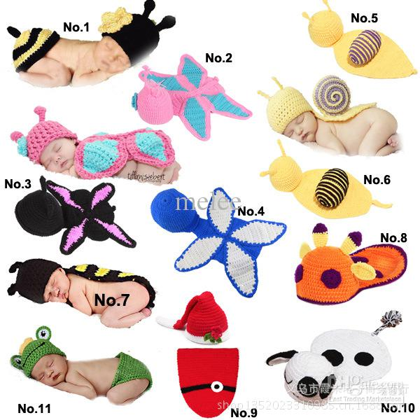 Infant Mouse Costume | Unisex  Newborn Hat  Wool   Baby Infant Snai Frog Hatl Mouse Costume Crochet Knitted Hat Cap Girl Boy Diaper Dogs Mermaid Croche