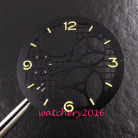 38.9mm Latest Fashionable three dimensional black Dial Fit 6497 Movement Wrist watch Plate