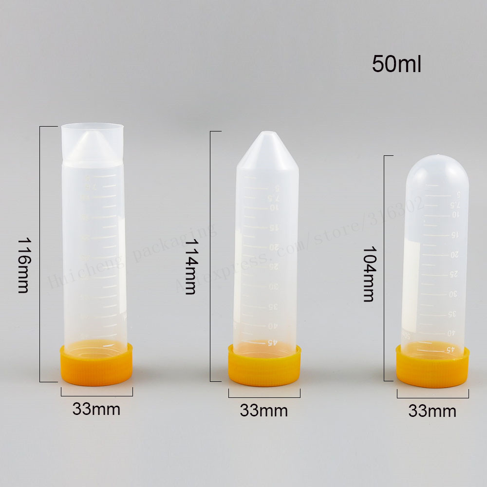 24 X эксперимент поставки 50 мл пустая колба с крышкой шеи PP ТРУБКА стерилизована при высокой температуре Герметизация хорошо